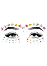 Load image into Gallery viewer, Multicolor Jovi Adhesive Face Jewels Sticker