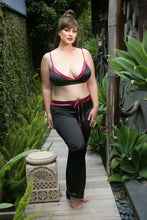 Load image into Gallery viewer, Black Lynn Bralette & Drawstring Pant Set