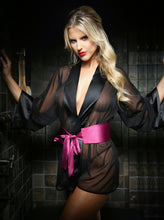 Load image into Gallery viewer, Black Nancy Dressing Robe & Panty Set