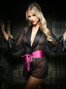 Black Nancy Dressing Robe & Panty Set