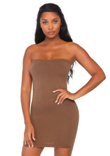 Load image into Gallery viewer, Tan Pearl Seamless Opaque Microfiber Bodycon Tube Dress
