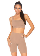 Load image into Gallery viewer, Medium Salome 2 Piece Seamless Opaque Spandex Crop Tank and Bike Shorts