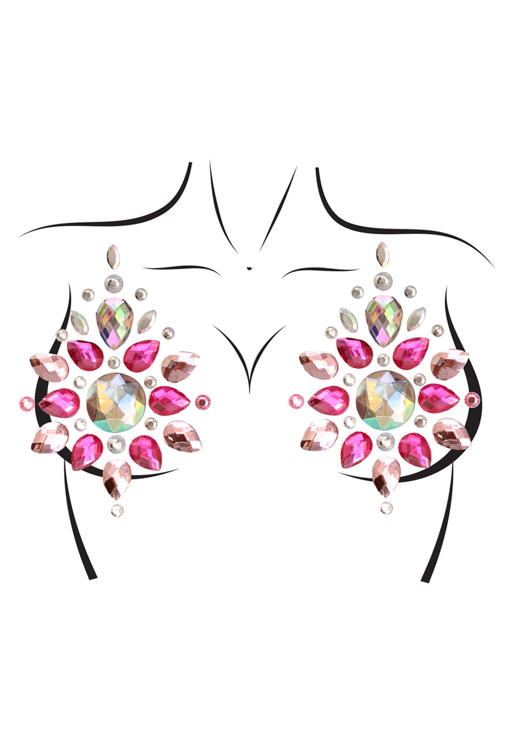 Multicolor Antonia Phoenix Adhesive Nipple Jewels Sticker