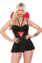 Load image into Gallery viewer, Black Fangtasy Girl Vampire Costume Set