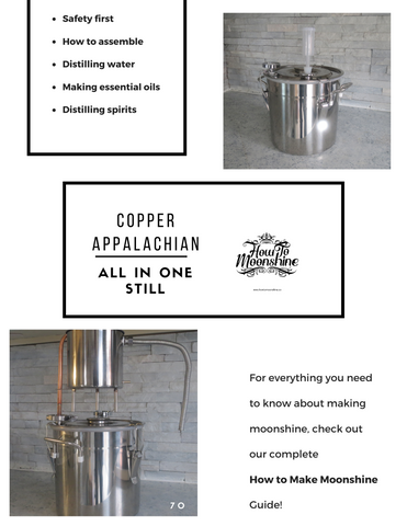 Copper whiskey still