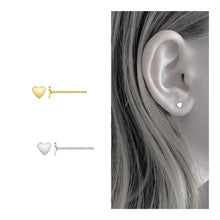 Load image into Gallery viewer, 14kt gold filled itty bitty heart studs - Links and Locks Designs