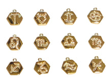 Load image into Gallery viewer, Add on - Gold Zodiac Hexagon Charm