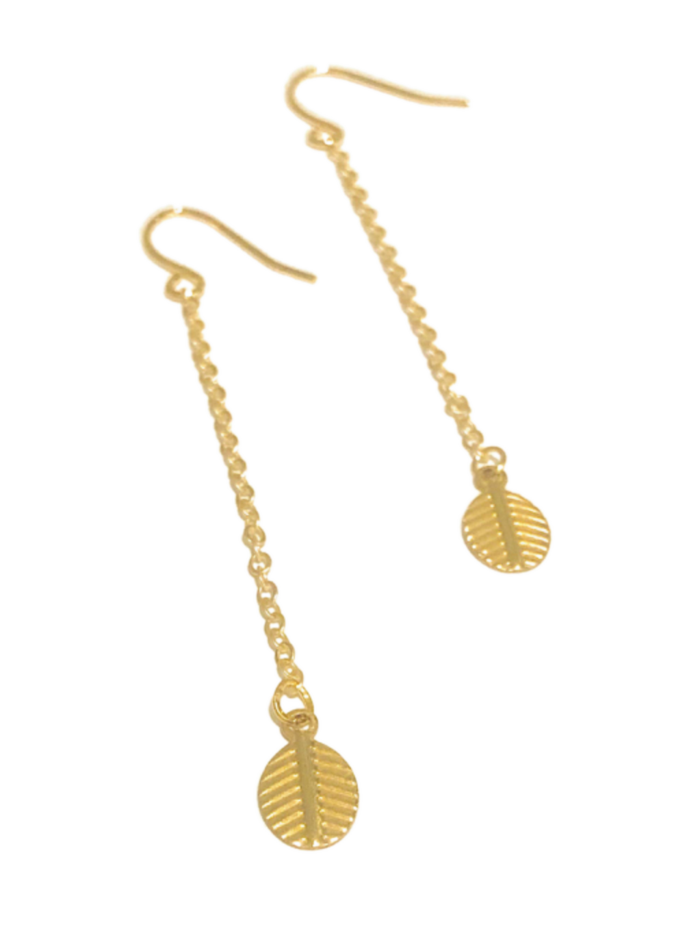 Gold Leaf Chain Earrings Chain