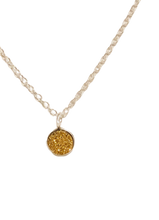 Load image into Gallery viewer, Gold Druzy Heart Necklace