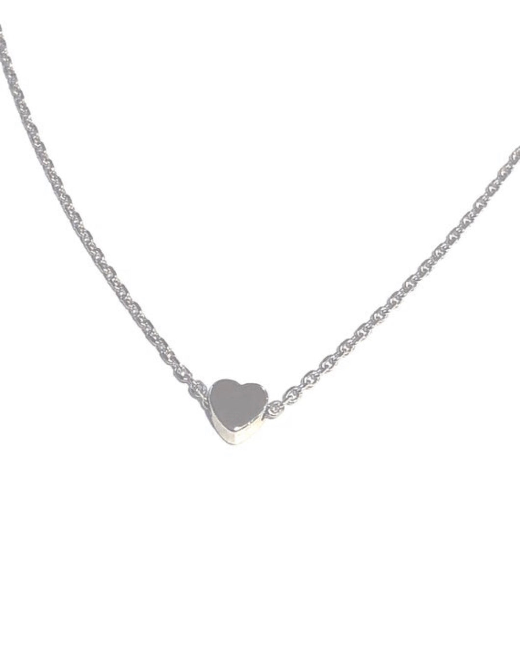 *Mini Silver Heart Necklace - Cat & Nat BFF Necklace