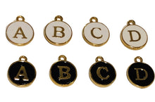 Load image into Gallery viewer, *Add on Charm - Enamel Initial Charms - Black, White or Latte