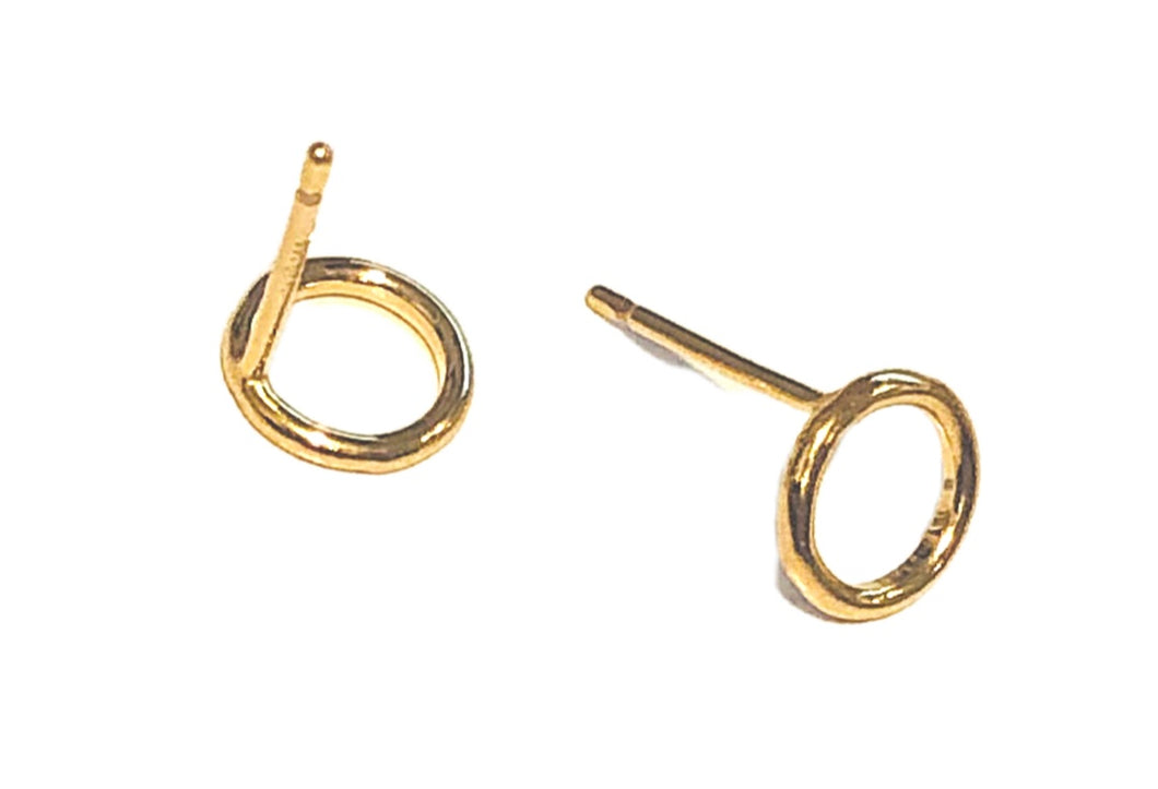 HALO Stud Earrings 14KT GF