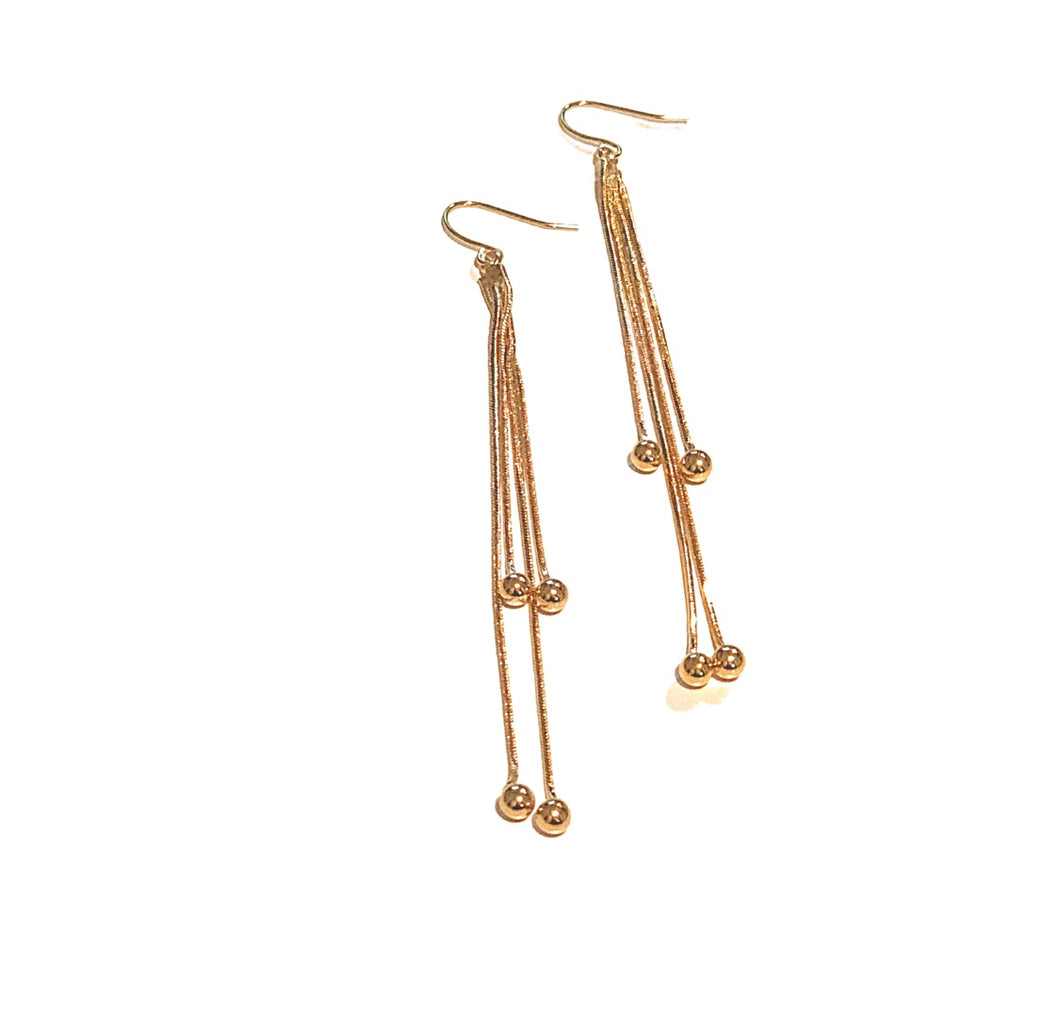 Gold Tempest Dangle Earrings