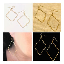 Load image into Gallery viewer, Gold Nairobi Silhouette Earrings