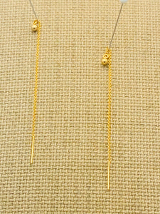 14kt Gold Filled Threader Earrings with Gold Ball