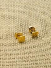 Load image into Gallery viewer, Simple Square Stud Earrings 14KT GF