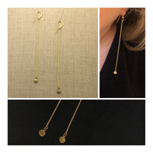 Load image into Gallery viewer, Mini Disc Chain Earrings