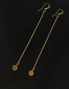 Mini Disc Chain Earrings