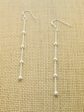 Load image into Gallery viewer, Sterling Silver Mini Ball Chain Earrings