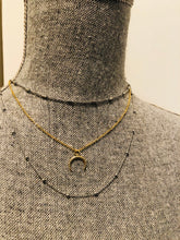 Load image into Gallery viewer, Half Caste Moon Necklace (Tori Spellings actual necklace)