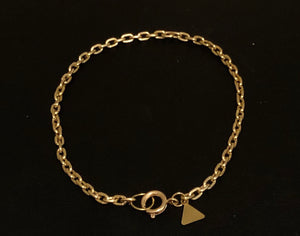 Gold Anklet with Choice of Charm!