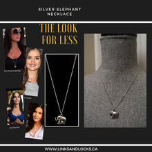 Load image into Gallery viewer, Silver Elephant Necklace - The Look for Less