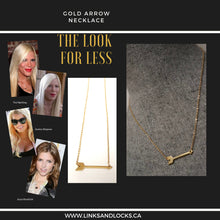 Load image into Gallery viewer, Arrow Necklace ... Celebrity Favourite .... Mini Brass Arrow