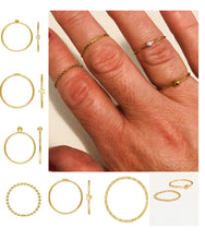 Load image into Gallery viewer, *Stacking Rings - Gold Sterling  - Angel Wing Ring