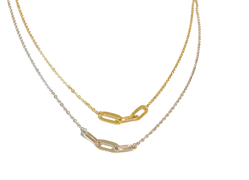 Paperclip Necklace available in Gold or Sterling Silver
