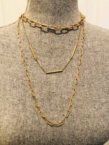 Gold Paperclip Necklace