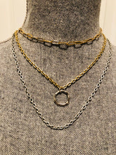 Load image into Gallery viewer, Simple Silver Figaro Layering Chain Necklace
