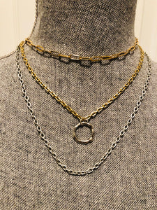 Simple Matte Silver Layering Chain Necklace