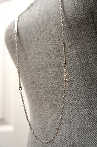 Long Silver Link Necklace ...Made in Canada