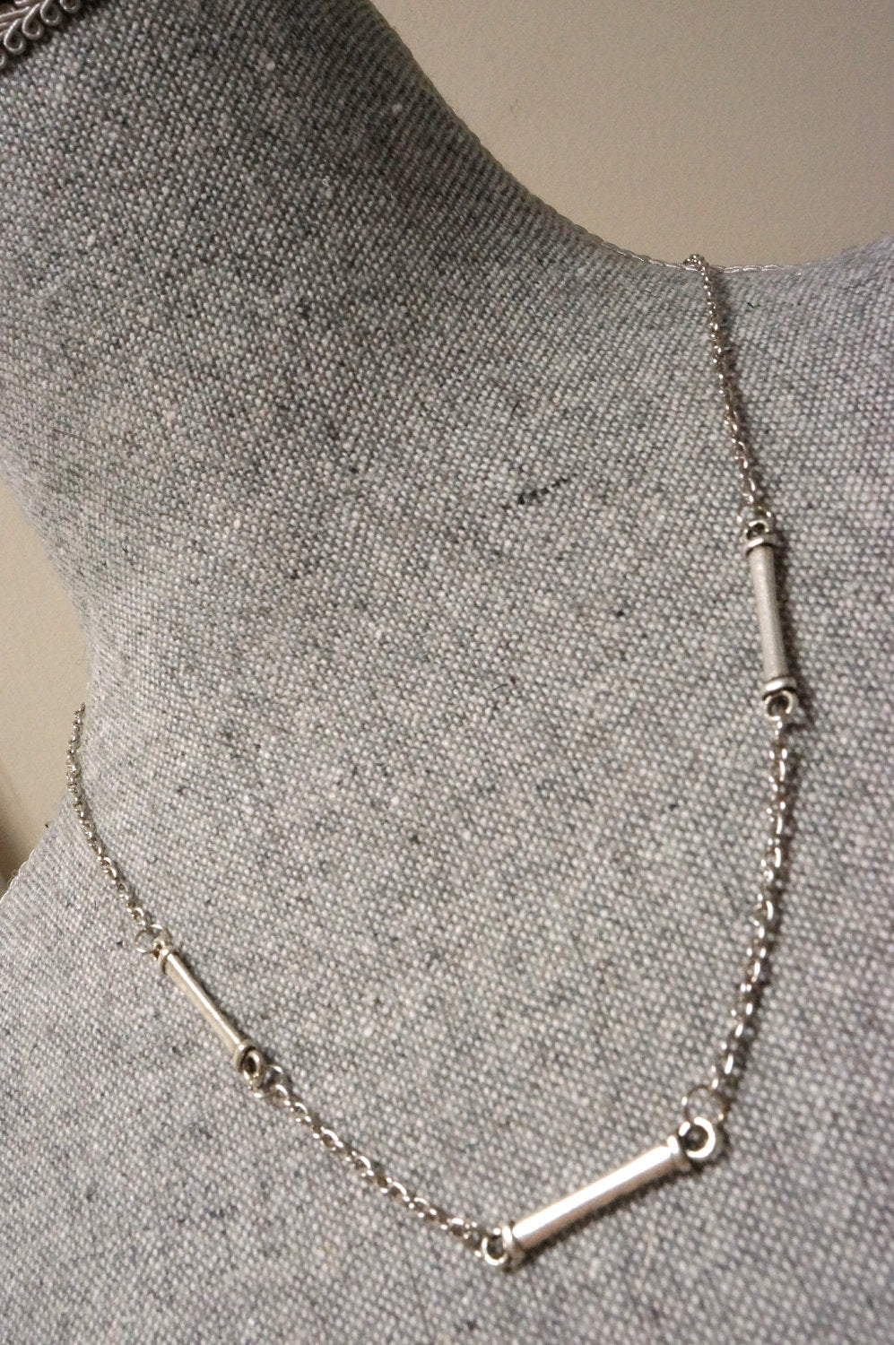 Short Simple Silver Link Necklace ... Cougar Town Necklace
