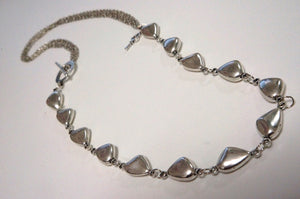 Silver Pebble Necklace ~ Short