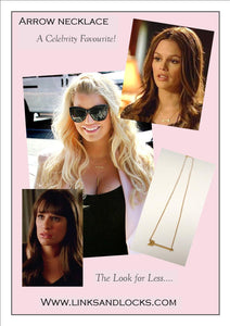 Arrow Necklace ... Celebrity Favourite .... Mini Brass Arrow