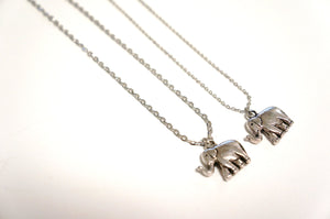 Silver Elephant Necklace - The Look for Less