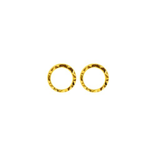 Load image into Gallery viewer, Diamond Cut HALO Studs Gold Sterling