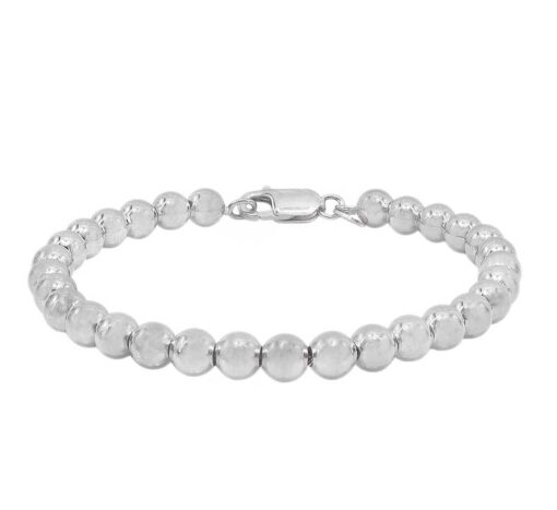Sterling Silver Classic 6mm Ball Bracelet
