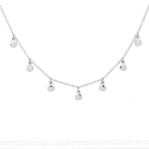 Sterling Silver Dewdrop Choker Necklace