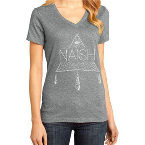 Naish Boho Triangle V-Neck - Heathered Grey