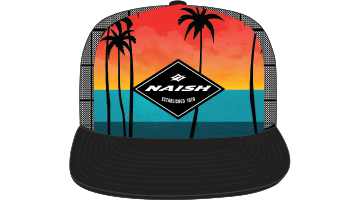 Naish Palm Sunset Trucker Cap-Digital Print
