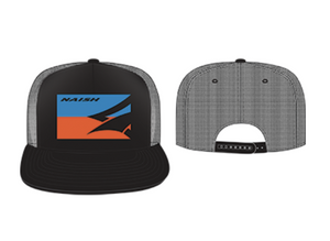 Naish Trucker Hat-Black/Blue/Orange