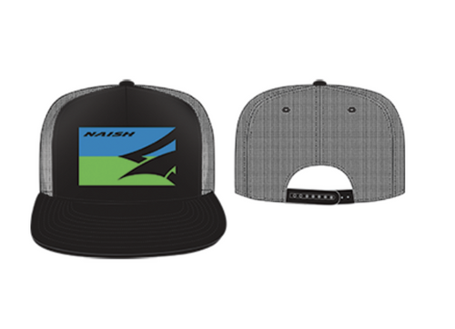 Naish Trucker Hat-Black/Blue/Green