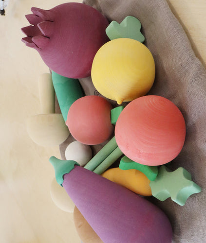 Hand Made Wooden Fruit Set