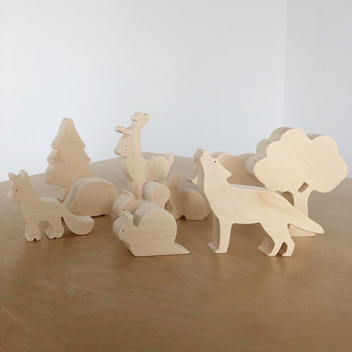 Wooden Animals - Forest Animals