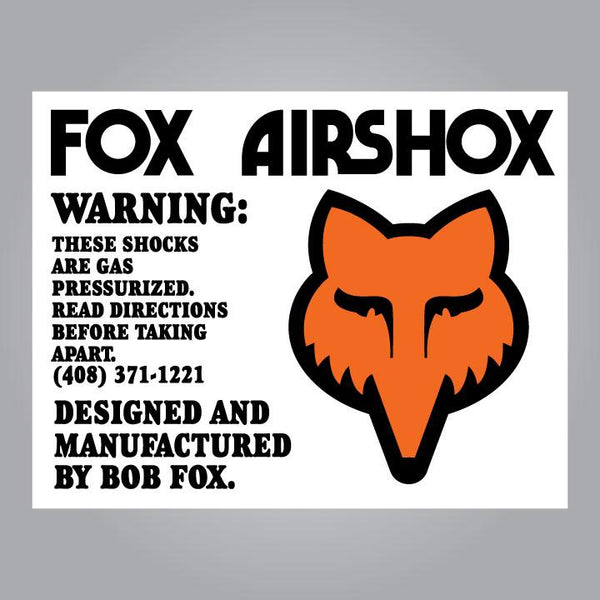 Fox Airshox Decal Set - Early Style