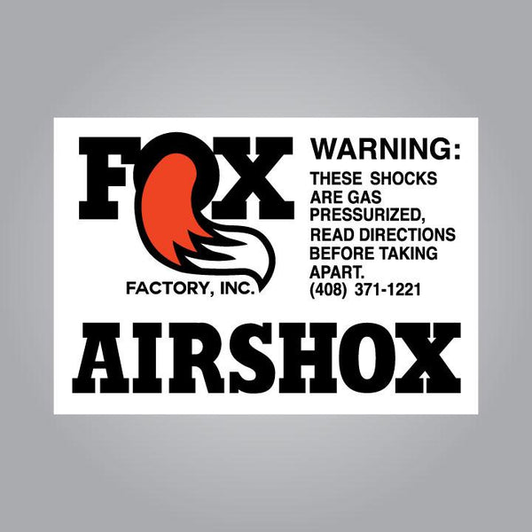 Fox Airshox Decal Set - Late Style