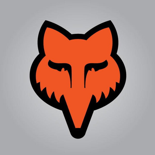 Fox Head Decal - Small Orange