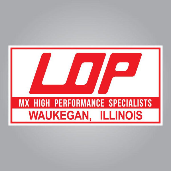 LOP MX High Performance Specialists Decal